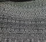 Viskose Jersey schwarz weiß grafisches Muster Rauten Ecken