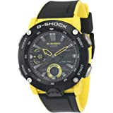 Casio G-Shock GA-2000-1A9DR Resin Band Analog-Digital Watch for Men - Black and Yellow