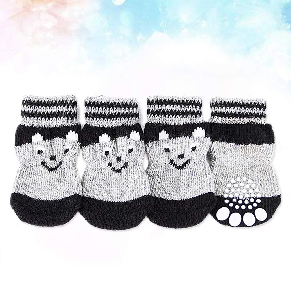 Popetpop set di calzini per cani da compagnia antiscivolo con