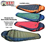 Kefi outdoors Sleepmate Ultralightweight Nylon Down Feather Sleeping Bag 0 Extreme Weather , 1.5 Kg, with Color Options