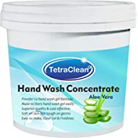 Tetraclean Hand Wash Concentrate Powder for Formulation of 10 L Handwash Gel in Aloe Vera Fragrance (500 gm)