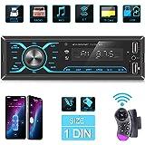 ANKEWAY 2020 Nuevo Táctil Radio Coche Autoradio Bluetooth 1 DIN con App Control y Remoto del Volante, Llamadas Manos Libres R