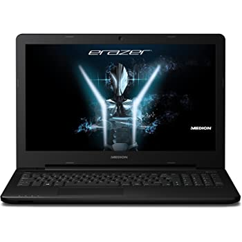 Medion Erazer P6661 MD 99841 39,6 cm (15,6 Zoll Mattes Full HD Display) Gaming Laptop (Intel Core i7-6500U, 8GB RAM, 512GB SSD, Nvidia GeForce GTX950M 4GB GDDR5, DVD RW, Win 10 Home) Schwarz