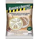 BARRIERE A INSECTES GREEN Spirales Anti-Moustiques & Moustiques Tigres, à Base de Géraniol - Sachet de 4 spirales + 1 Diffuse