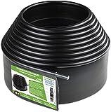 Flexible Rasenkante Kunststoff mit runden Oberkante (12 m, schwarz) - Robustes Stay-in-Place Design - Verhindert das…