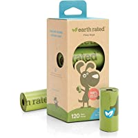 Earth Rated Dog Poo Bags - 120 Extra Thick Poop Bags For Dogs - Each Unscented Doggy Waste Bag Measures 22x33cm - 100…