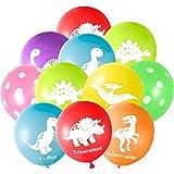 FEPITO 32 stuks 12 inch dinosaurussen ballonnen dinosaurus latex ballonnen voor dinosaurus party decoraties, 8 kleuren