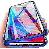 Etui do Huawei P Smart 2021, magnetyczna adsorpcja, etui na telefon komórkowy, ochrona 360 stopni, aluminiowa rama z hartowan