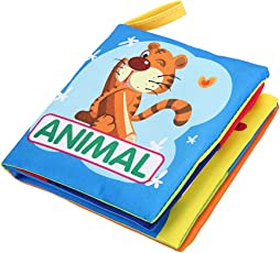 ESCLUSIVO KIDS EARLY LEARNING CLOTH BOOK ANIMALS