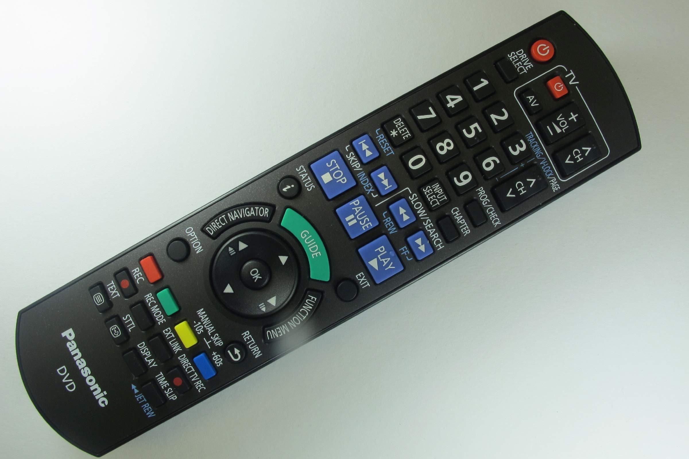 71DQsxIuSWL - Panasonic DMR-EZ49VEBK Genuine DVD Recorder Remote Control N2QAYB000466