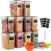 GoMaihe 1.6L Boite de Rangement Cuisine Lot de 10, Bocaux Hermetiques Alimentaires en Plastique Scellée avec Couvercle…