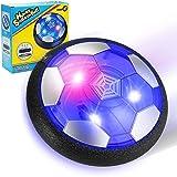 EXTSUD Balón Fútbol Flotante, Pelota de Air Fútbol con Protectores de Espuma Suave y Luces LED, Juguete Deportivo para Niños