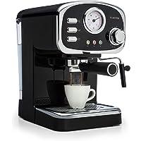 Klarstein Espressionata Gusto - Espressomaschine, Retro-Design, 1100 W Stromverbrauch, 15 Bar Druck, 1,25 Liter…