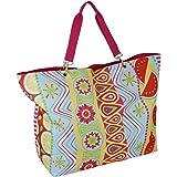 XXL Badetasche Familie mit Reißverschluss Strandtasche Groß mit Innentasche Saunatasche Beach Bag Picknick-Tasche
