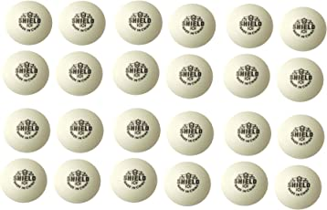 Tima Three Star Shield 101 Plastic Table Ping Pong Ball - Size: Standard (Pack of 24, White)