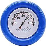 BTOPER Termómetro de piscina redondo, termómetro de dial grande y preciso Termómetro flotante Diseño resistente a roturas par