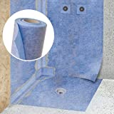 STEIGNER Waterdichtingsmat voor het hydro isolatie, Spanningsverlichingsmat 1 lopende meter, breedte 200cm blauw, Afdichtfoli