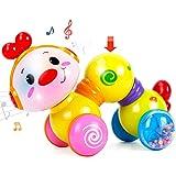 CubicFun Juguetes Bebe 6 Meses Juguetes Musicales para Bebes 1 año Oruga Juguetes para Gatear con la Luz del Flash Juguetes E
