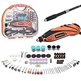 Mini Amoladora Eléctrica, GINELSON Advanced Professional Kit de Herramientas Rotativas Multifunción Sin Llave/Eje Flexible 15