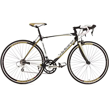 KS Cycling Palermo de Adore - Bicicleta de carretera, color blanco, ruedas 28