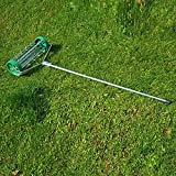 Rouleau aérateur pour pelouse avec manche télescopique 135 x 42 cm vert neuf 22
