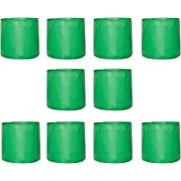 """Leafy Tales Terrace Gardening HDPE Green Grow Bag (12"""" X 12"""") - (Pack of 10) 