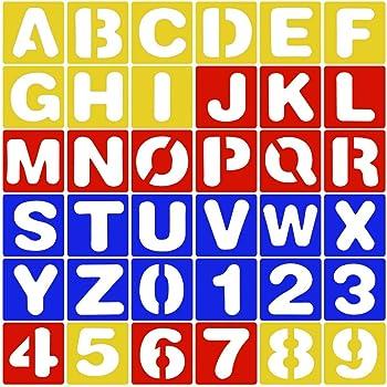 4 Stück Schriftzug Schablone Alphabet Schablone Buchstaben Nummer ...