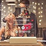 Spotify Music Code Luce Notturna Personalizzato Foto & Nome del Musica & Nome del Cantante, Spotify Glass Art Lampada Musica