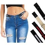 Unisex No Buckle Waist Belt - Adjustable Buckle Free Belt for Women and Men, Stretch Belt Invisible Elastic Belt for Jeans, P