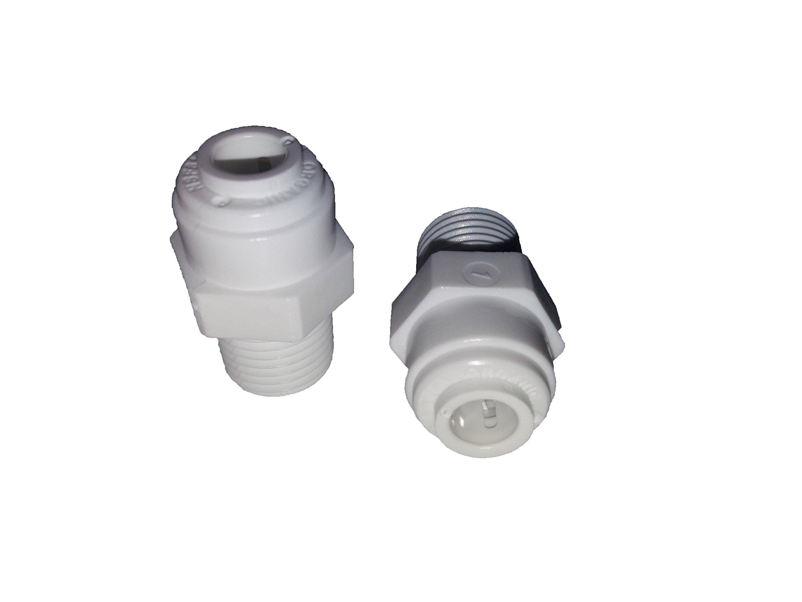 Repuesto kit recambio Ósmosis x2 Uds. Adaptador roscado Macho 1/4″ – Conexión rápida tubo Flex 1/4″.