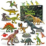GizmoVine Dinosauri Giocattoli 20 Pezzi Dinosauro Mobile da 13-23 CM,Compreso Tyrannosaurus Rex, Triceratopo Giochi Neonati G