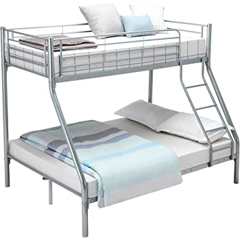 Double Bunkbed 4ft 6 Twin Bunk Bed Includes 2x Quilted Sprung