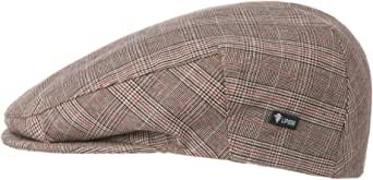 Lipodo Coppola a Quadri Devron Uomo - Made in Italy Cotton cap Cappello Piatto con Visiera, Fodera Primavera/Estate