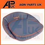 APUK Seat Pan Cushion Blue Orange + Logo Compatible with Fordson Dexta Major Power Super E27N Tractor