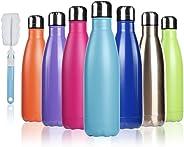 BOGI 500ml Doppia Parete in Acciaio Inox coibentato Bottiglia di Acqua, Mantiene Il Vostro Bevanda Calda & Fredda Perfetto pe