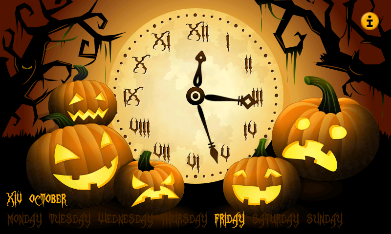 night stand clock seasons halloween apps f r. Black Bedroom Furniture Sets. Home Design Ideas