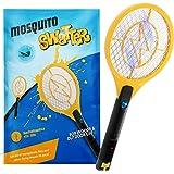 Zenoplige Contr, USB-laddningsbar flyga zapper racket elektrisk insekt myggsvamp för inomhus och camping skadedjurskontroll,