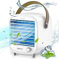 Exatfina Refroidisseur d'air Portable Climatiseur Mobile USB,4 en 1 Ventilateur Climatiseur Silencieux Humidificateur…