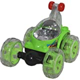 Qariet Alnwader 3D crazy car toy with a remote control - XZ244, Green