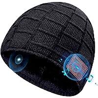 Idee Regalo Natale Uomo Donna Cappello Bluetooth Berretto Sci Cappello Invernali Lavorato Bluetooth 5.0 Berretto…