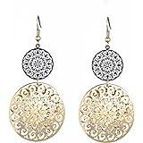 Orecchini pendenti per donna, inserti per orecchini pendenti vuoti placcati oro e argento placcati in cristallo di zirconio c