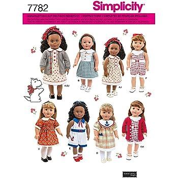 Burda Schnittmuster 8591 Puppenkleidung 40-45 cm & 50-55 cm: Amazon ...