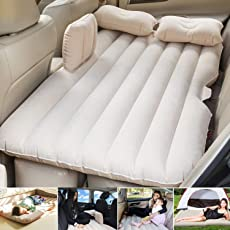 Car Inflatable Bed For Ford Aspire Suv Air Pump Cars Mattress Ertiga Ecosport Automotive Pillow Beige Travel Pvc Camping Universal Back Seat Couch With Bag Compression Sacks More Tools