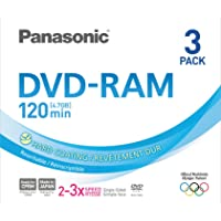 Panasonic 3x speed, 4.7GB, 3 pack DVD-RAM Disc
