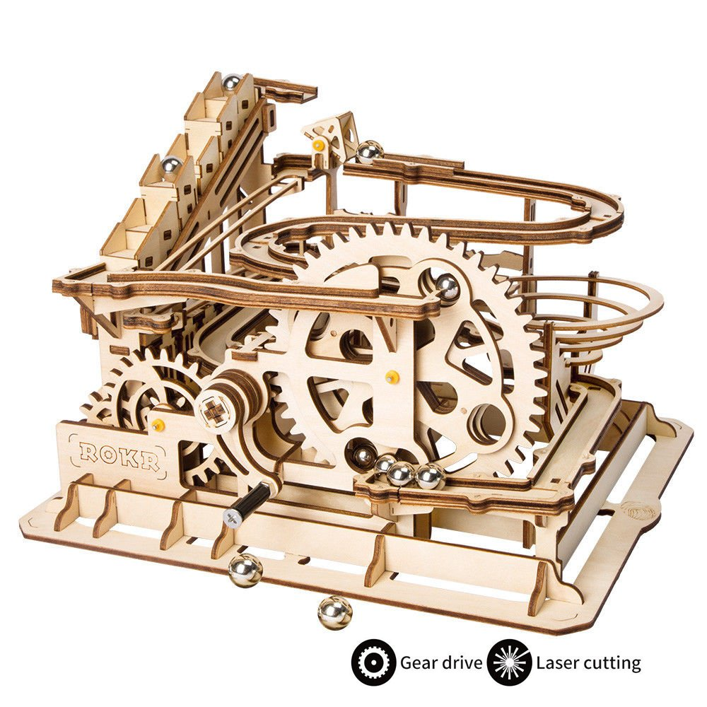 ROKR-Puzzle-3D-Madera-Mechanical-Gears-DIY-Building-Kit-Modelo-mecnico-Kit-de-construccin-con-Bolas-para-Adolescentes-y-Adultos-Waterwheel-Coaster