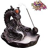 Backflow Incense Burner, Home Dragon Backflow incense Burner, Backflow incense Holder with 10PCS Backflow Incense, Bruciatore