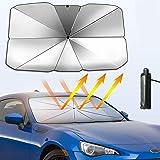 HNOOSTER Auto Windschutzscheibe einziehbar Sonnenschutz W/ärmeisolierung Visier Windschutzscheibenabdeckung Einziehbar Windschutzscheibe Visier Frontscheibe Sonnenschutz Isolierung Sonnenschutz