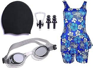 Golden Girl Swimming kit for Girls (Black_9-10 Years)