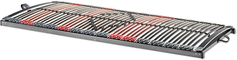 Betten ABC 7-Zonen Lattenrost Max Premium NV / Lattenrahmen in 100 x 200 cm mit 44 Leisten und Mittelzonenverstellung - geeignet für alle Matratzen