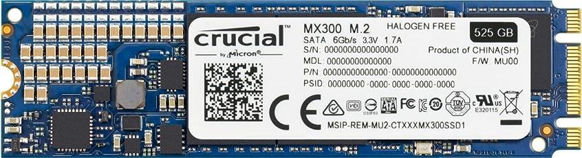 Crucial MX300 CT525MX300SSD4 525 GB Internes SSD (3D NAND, SATA, M.2 (2280))